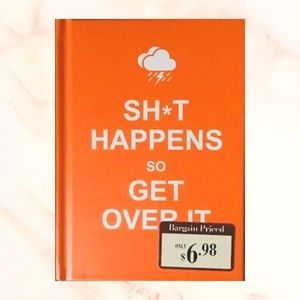"""♥️4OFFER* hardcover """"shit happens"""" book of quotes"""